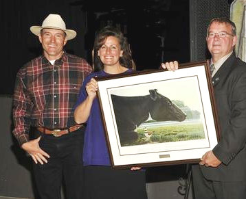 Dylan and Colleen Biggs receiving 2009 Wildlife Habitat Canada's National Countryside Canada Award