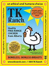 TK Ranch Chicken Label