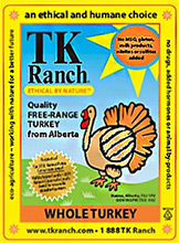 TK Ranch Turkey Label