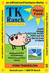 TK Ranch Pork Label