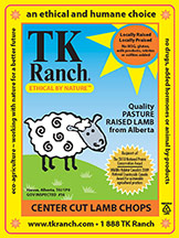 TK Ranch Lamb Label