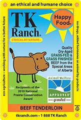 TK Ranch Beef Label